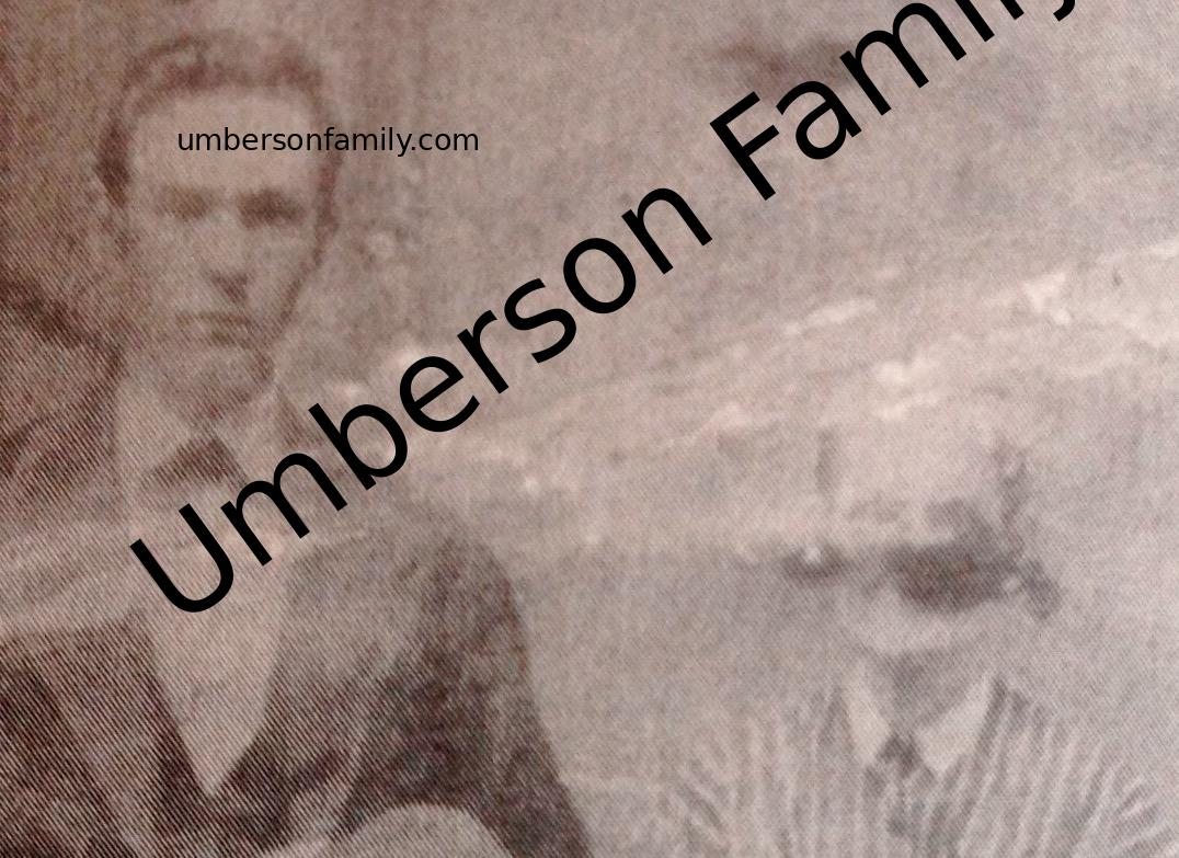 Jerome George Umberson and Mother Elizabeth U